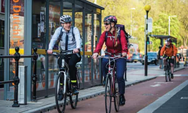 Greater Manchester's first on-highway segregated cycleway