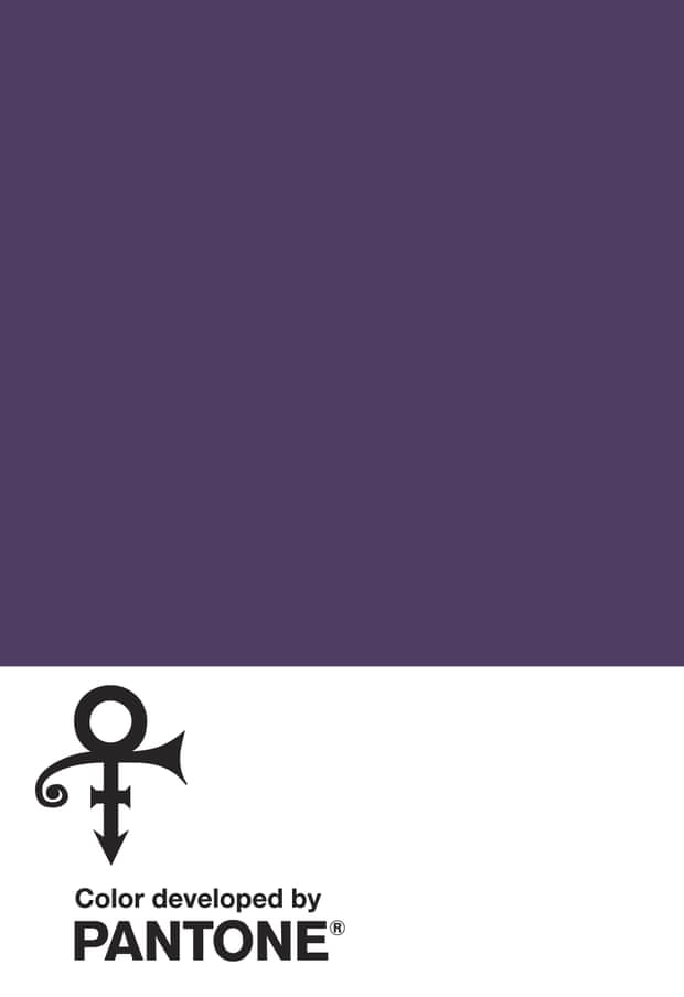 This image provided by the Pantone Color Institute shows Love Symbol #2, that the institute and the estate of the late music superstar Prince announced as a new shade of purple.