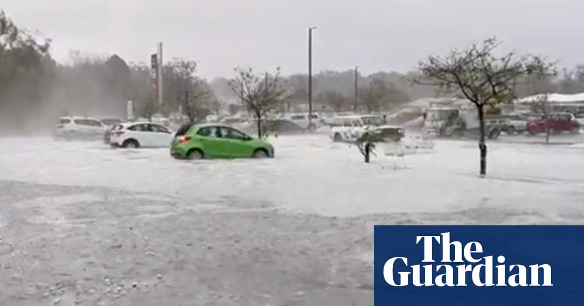 'Like snow': freak hail storms batter Australia's east coast