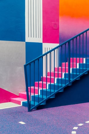 A basketball court in the district of Pigalle, Paris by photographer Sebastian Erras created by Nike and fashion label Pigalle