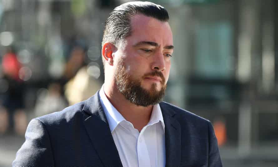 Brendan Leigh Russell outside the Downing Centre District Court in Sydney