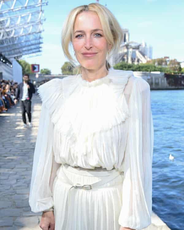 Gillian Anderson at the Chloé show