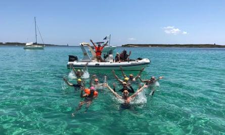 Open water swimming in Mallorca from Swim Trek