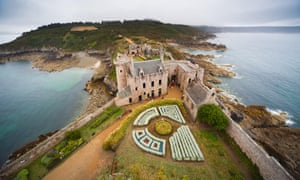 The medieval Fort la Latte on Cap Fréhel, seen from the top of the castle tower.