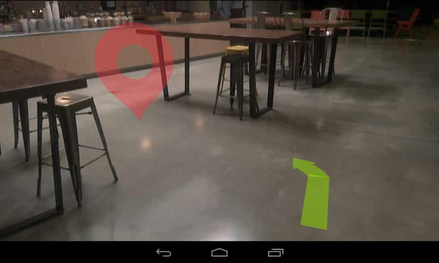 Navigation 4 app for Google's Project Tango