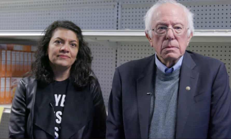 The former governor of Wisconsin tweeted 'Anyone notice the backdrop behind Bernie Sanders and Rashida Tlaib looked like the empty shelves of stores in many socialist countries?'