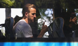 Harry Kane as the England team leave the Hotel ForestMix Repino on their way for home on Sunday.
