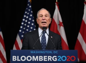 Michael Bloomberg campaigns in Washington DC.