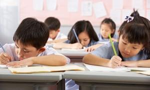 hong kong children in classroom