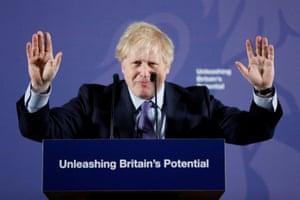 Boris Johnson speaking about the EU on 3 February.