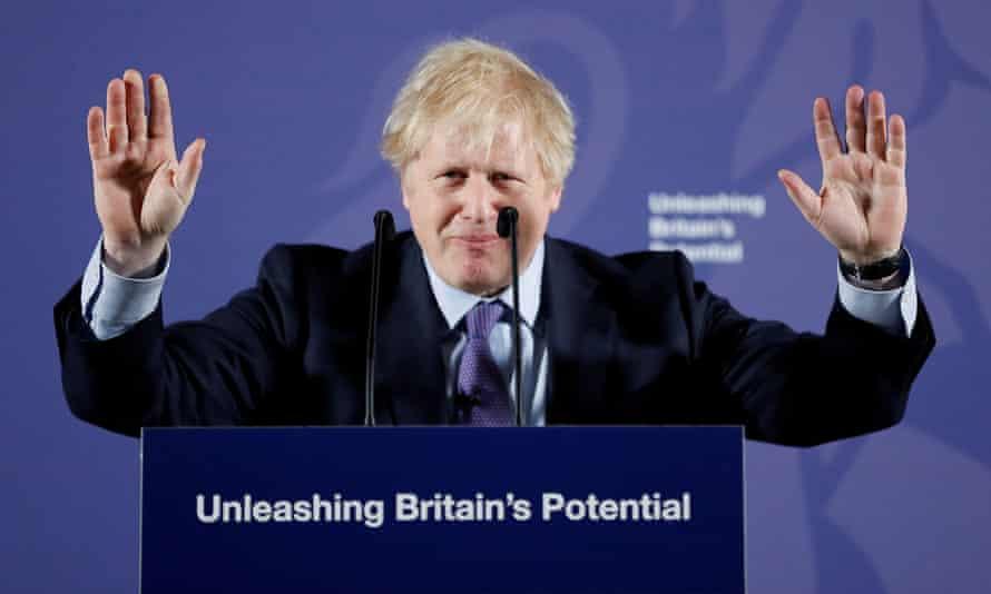 Boris Johnson in Greenwich on 3 February