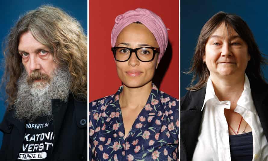 Alan Moore, Zadie Smith and Ali Smith.