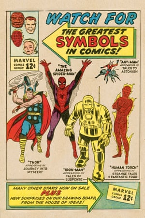 The Marvel Age of promotion had arrived! Stan's house ad, featuring the lettering skills of Artie Simek, celebrates the growing line of super heroes. The corner cover symbol, along with the Marvel Comics Group logo, was created by Steve Ditko, and became a recognizable mark that fans would seek out on newsstands nationwide.