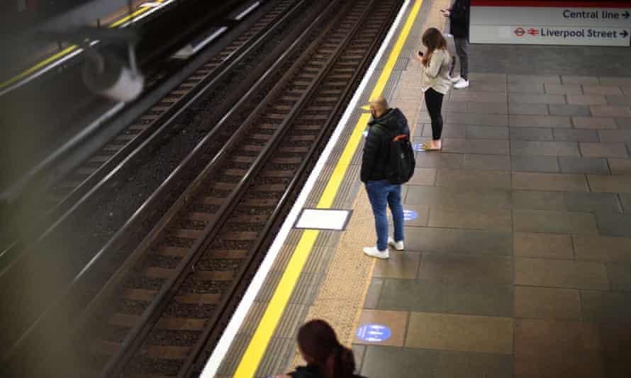 Liverpool Street underground station in London