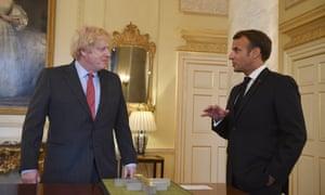Emmanuel Macron and Boris Johnson in 10 Downing Street