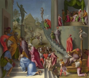 Jacopo Pontormo's Joseph with Jacob in Egypt (from Scenes from the Story of Joseph), c1515.