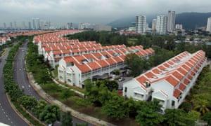 The Ariza terraces in Seri Tanjung, Penang