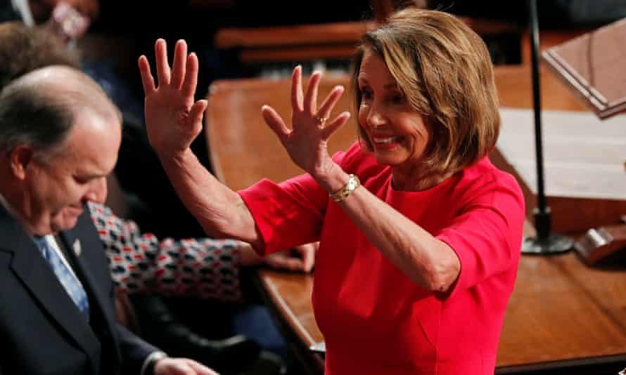Nancy Pelosi reclaimed her former title, House speaker, on Thursday.