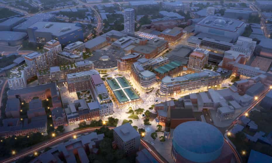 an illustration of the proposed Coventry City Centre South (CCS) proposals by Shearer Property Group.