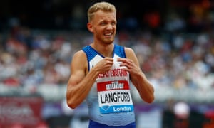 Kyle Langford after a 800m race at the IAAF Diamond League in July