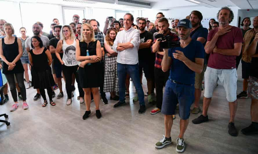More than 70 editorial staff at index.hu walk out of the newsroom after submitting resignations in the wake of editor Szabolcs Dull's dismissal in July 2020