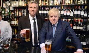 Zac Goldsmith and Boris Johnson, pictured in 2016.