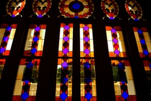 A photo from 2015 shows the stained glass windows of the Sursock Museum, once a private home built in 1912 and home to a permanent art collection