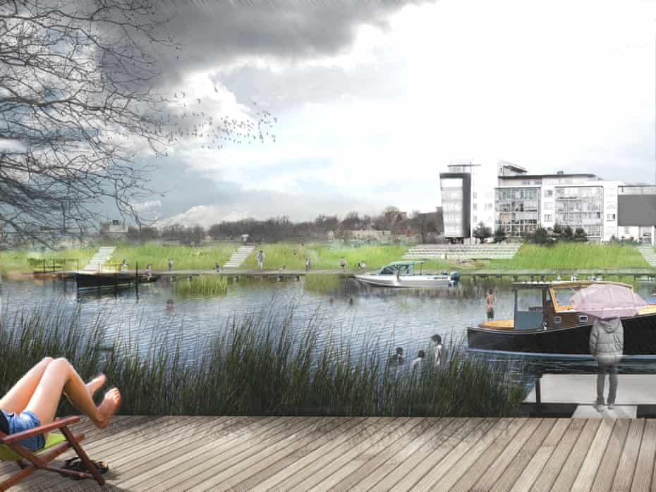 A terrace in Little Ferry, one of the first sites for the pilot project of New Meadowlands