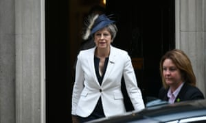 Theresa May leaves No 10 after cabinet.