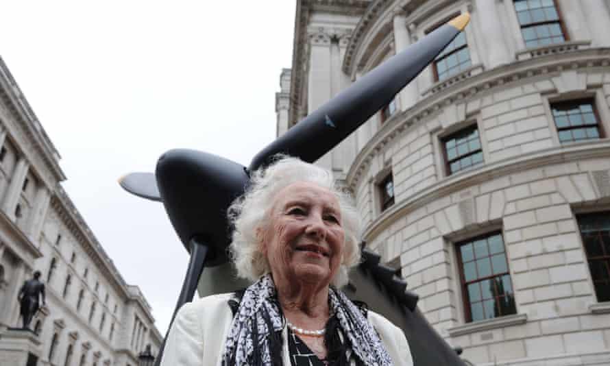 Dame Vera Lynn in 2010 outside the Churchill War Rooms in London.