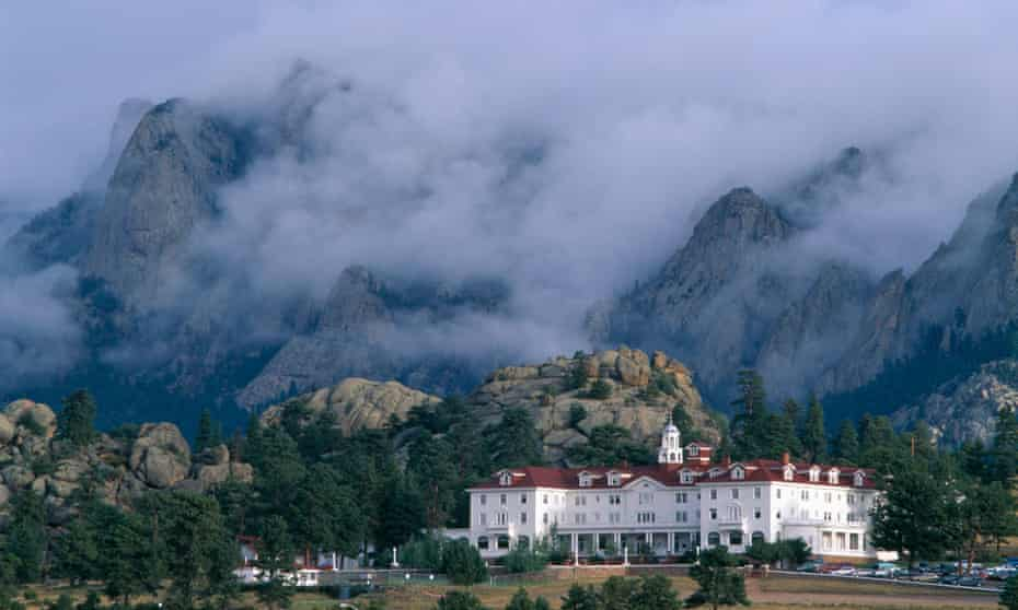 The Stanley Hotel in Estes Park, Rocky Mountain national park, Colorado, where Stephen King came up with the idea for The Shining.
