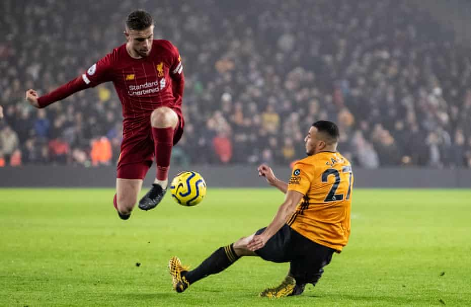 Jordan Henderson, here in action against Wolves, says: 'I feel as though we've created our own way of playing football.'