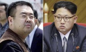 Kim Jong-nam, left, and Kim Jong-un
