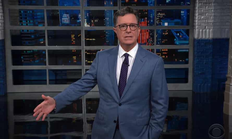 """Stephen Colbert: """"For the people of Afghanistan, today is the transition from 'how did this happen?' to 'what happens now?' The last time the Taliban was in power, it was a monstrously repressive regime. But this new Taliban claims they're a whole new Taliban."""""""