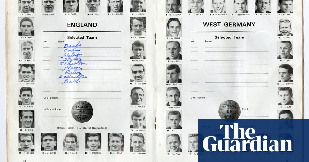 The 1966 World Cup final programme - in pictures | Books ...
