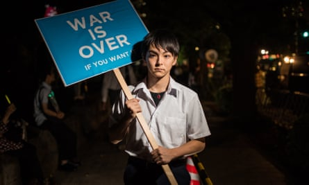 Takuya, a Sealds protester against Japanese troops deploying overseas.