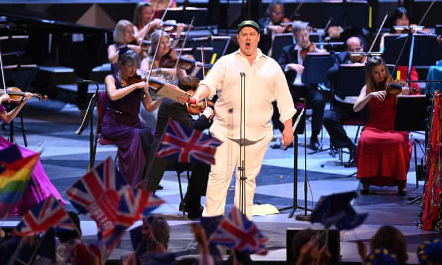 Australian tenor Stuart Skelton, who dressed in cricket Flannels for Rule, Britannia! at the Last Night of the Proms