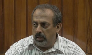 Feisal Mohamed Ali in court in Mombasa, Kenya, during his trial for ivory trafficking.