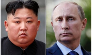 Kim Jong-un, left, and Vladimir Putin