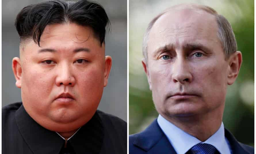 Kim Jong-un, left, and Vladimir Putin