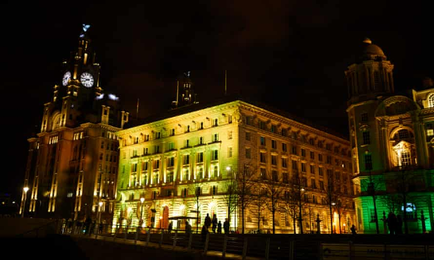 The Cunard building, on the Liverpool waterfront