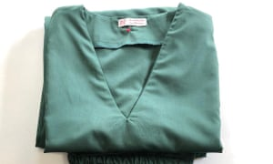 Scrubs for the NHS made by Denise Cleal, a wardrobe supervisor at the Barn Theatre in Cirencester
