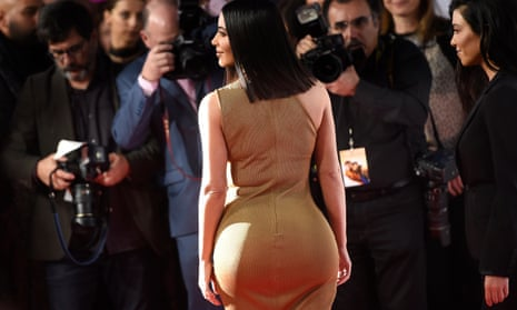 """A rear view of Kim Kardashian West arrives at the U.S. premiere of """"The Promise"""" at the TCL Chinese Theatre on Wednesday, April 12, 2017, in Los Angeles"""