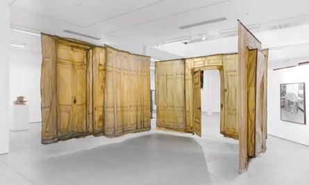 Heidi Bucher's installation in the Room exhibition.