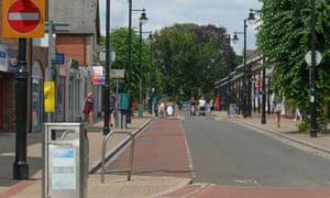 an empty UK high street