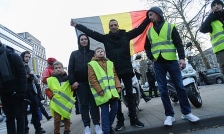 A gilets jaunes protests in Brussels, Belgium.