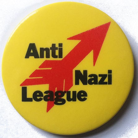 King's Anti-Nazi League badge: he said he was trying to create a visual style for the left