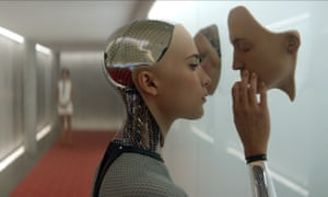 The rare occasions that feminised robots appear in films they are love interests or victims, as in Ex Machina.
