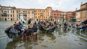 Flooding in Venice, Italy