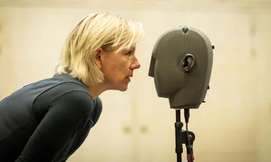Juliet Stevenson recording for Blindness at the Donmar Warehouse.